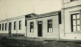 Una calle de Temuco en 1921.