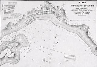 Plano de Puerto Montt en 1859, realizado por Francisco Vidal Gormaz. Encuentra las mejores Arriendo de Temporada en Puerto Montt en GOPLACEIT.COM