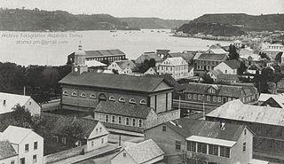 Vista de Puerto Montt en 1905.
